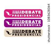presidential debate. elections... | Shutterstock .eps vector #1083628364