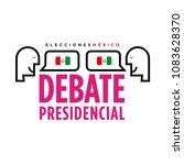 presidential debate. elections... | Shutterstock .eps vector #1083628370