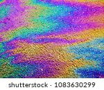 Oil Slick. Vibrant Colored...