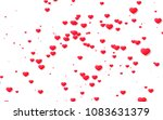 red and pink heart. valentine's ... | Shutterstock . vector #1083631379