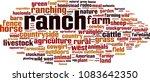 ranch word cloud concept.... | Shutterstock .eps vector #1083642350