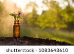 Small photo of Natural remedies, aromatherapy - bottle
