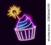 a glowing neon light sign... | Shutterstock .eps vector #1083646190