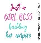 just a girl boss building her... | Shutterstock . vector #1083648560