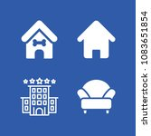set of 4 home filled icons such ... | Shutterstock .eps vector #1083651854