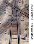 railroad tracks  crossroads and ... | Shutterstock . vector #108365240