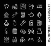 set of 25 food outline icons... | Shutterstock .eps vector #1083653369