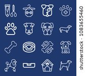 set of 16 dog outline icons... | Shutterstock .eps vector #1083655460