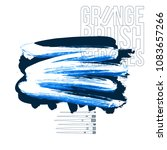 blue brush stroke and texture....   Shutterstock .eps vector #1083657266