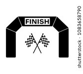 the finish icon. finish gate ... | Shutterstock .eps vector #1083658790
