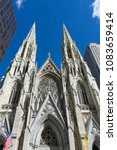 st. patrick's cathedral against ... | Shutterstock . vector #1083659414