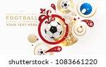 football abstract design...   Shutterstock .eps vector #1083661220