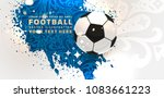 football abstract design... | Shutterstock .eps vector #1083661223