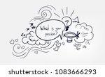 line doodle vector sketch... | Shutterstock .eps vector #1083666293