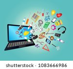 steam education web icon | Shutterstock .eps vector #1083666986
