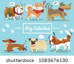 dogs collection. vector... | Shutterstock .eps vector #1083676130