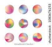 round gradient set of vibrant... | Shutterstock .eps vector #1083676253