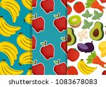fruits and vegetables group... | Shutterstock .eps vector #1083678083