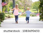 young sister and brother... | Shutterstock . vector #1083690653