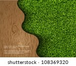 ecological concept of grass... | Shutterstock .eps vector #108369320