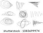 vector light set of hand drawn... | Shutterstock .eps vector #1083699974
