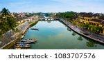 hoi an  vietnam   panorama... | Shutterstock . vector #1083707576