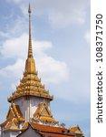 thai architecture of wat thai... | Shutterstock . vector #108371750
