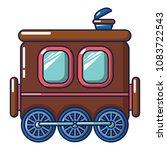 three wheel wagon icon. cartoon ...   Shutterstock .eps vector #1083722543