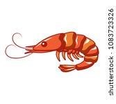 ocean shrimp icon. cartoon of...   Shutterstock .eps vector #1083723326