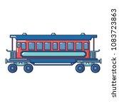 retro passenger wagon icon....   Shutterstock .eps vector #1083723863