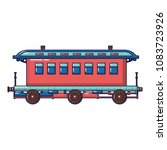 old fashion passenger wagon...   Shutterstock .eps vector #1083723926