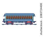 vintage passenger wagon icon.... | Shutterstock .eps vector #1083724400