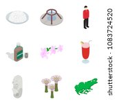 foreign place icons set.... | Shutterstock .eps vector #1083724520