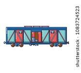 cargo train wagon icon. cartoon ...   Shutterstock .eps vector #1083724523