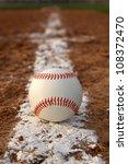 baseball on the infield chalk... | Shutterstock . vector #108372470