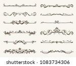 vector set of decorative...   Shutterstock .eps vector #1083734306