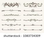 vector set of decorative...   Shutterstock .eps vector #1083734309