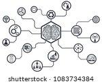 industry 4.0 concept smart... | Shutterstock .eps vector #1083734384