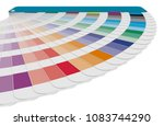 color chart to use in prepress... | Shutterstock . vector #1083744290