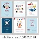birthday boy invitation cards... | Shutterstock .eps vector #1083755123