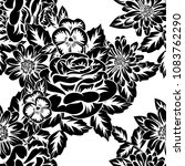 seamless monochrome pattern of... | Shutterstock .eps vector #1083762290