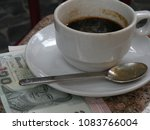 coffe cup on the table with...   Shutterstock . vector #1083766004