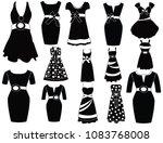 woman dresses fashion | Shutterstock .eps vector #1083768008