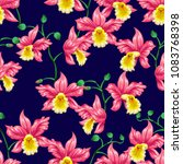 tropical flowers pretty pattern.... | Shutterstock .eps vector #1083768398