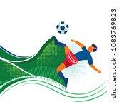 illustration of soccer... | Shutterstock .eps vector #1083769823