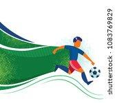 illustration of soccer...   Shutterstock .eps vector #1083769829