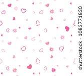 vector seamless hearts pattern  ... | Shutterstock .eps vector #1083771830