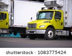 small semi truck with box... | Shutterstock . vector #1083775424