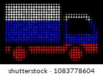 halftone delivery lorry icon...   Shutterstock .eps vector #1083778604