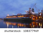 a hull of a ship is being... | Shutterstock . vector #108377969
